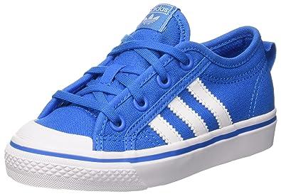 outlet store 63816 d09e5 adidas Nizza C, Chaussures de Basketball Mixte Enfant, Turquoise  (Brblueftwwhtftwwht), 28
