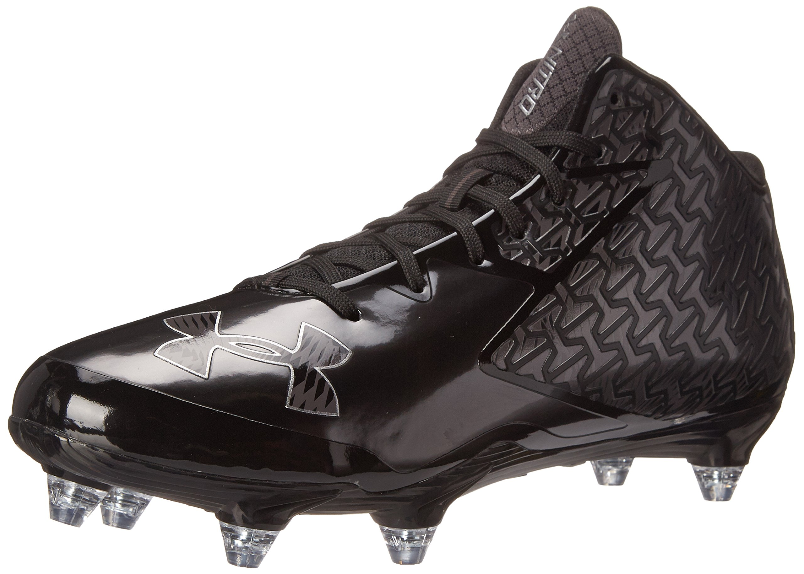 Under Armour Men's Nitro Mid Detachable Football Shoe, Black (003)/Charcoal, 6.5