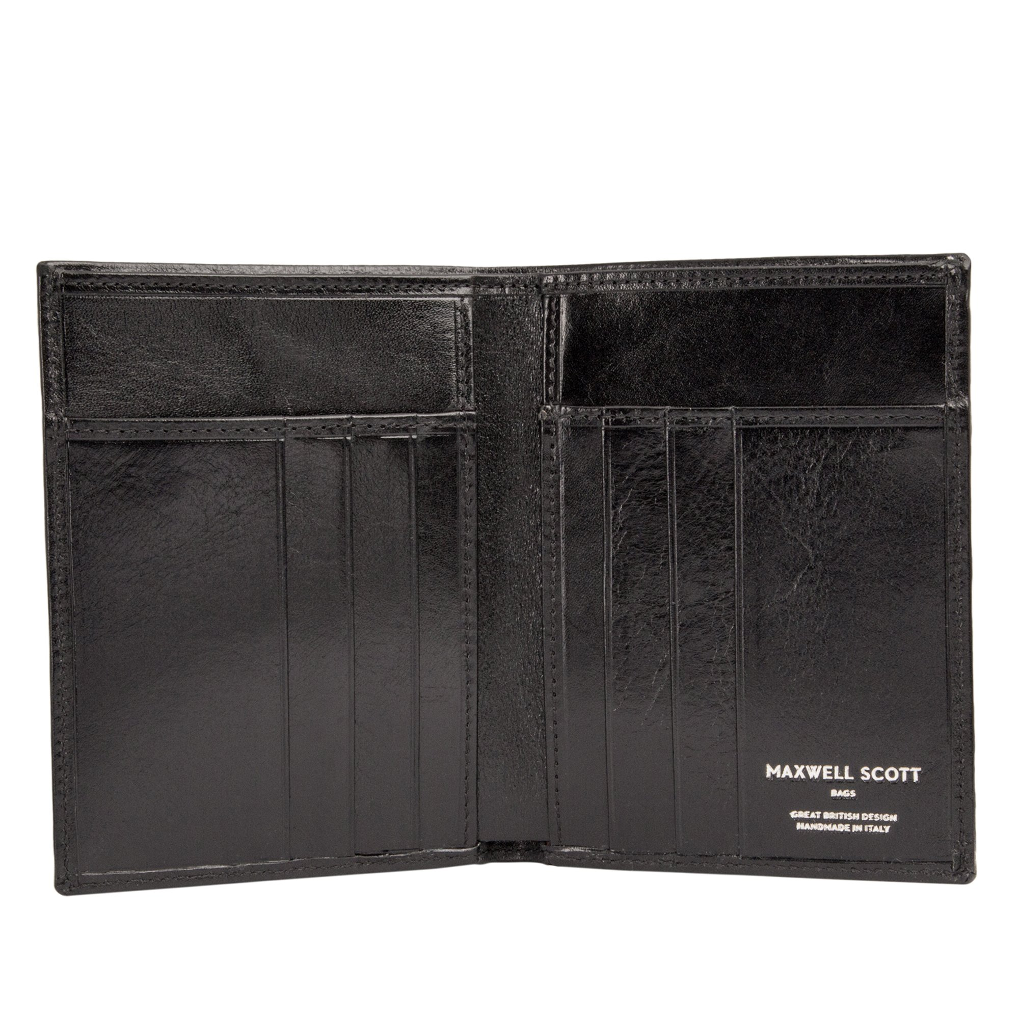 Maxwell Scott Luxury Black Leather Credit Card Wallet - One Size (The Salerno) by Maxwell Scott Bags