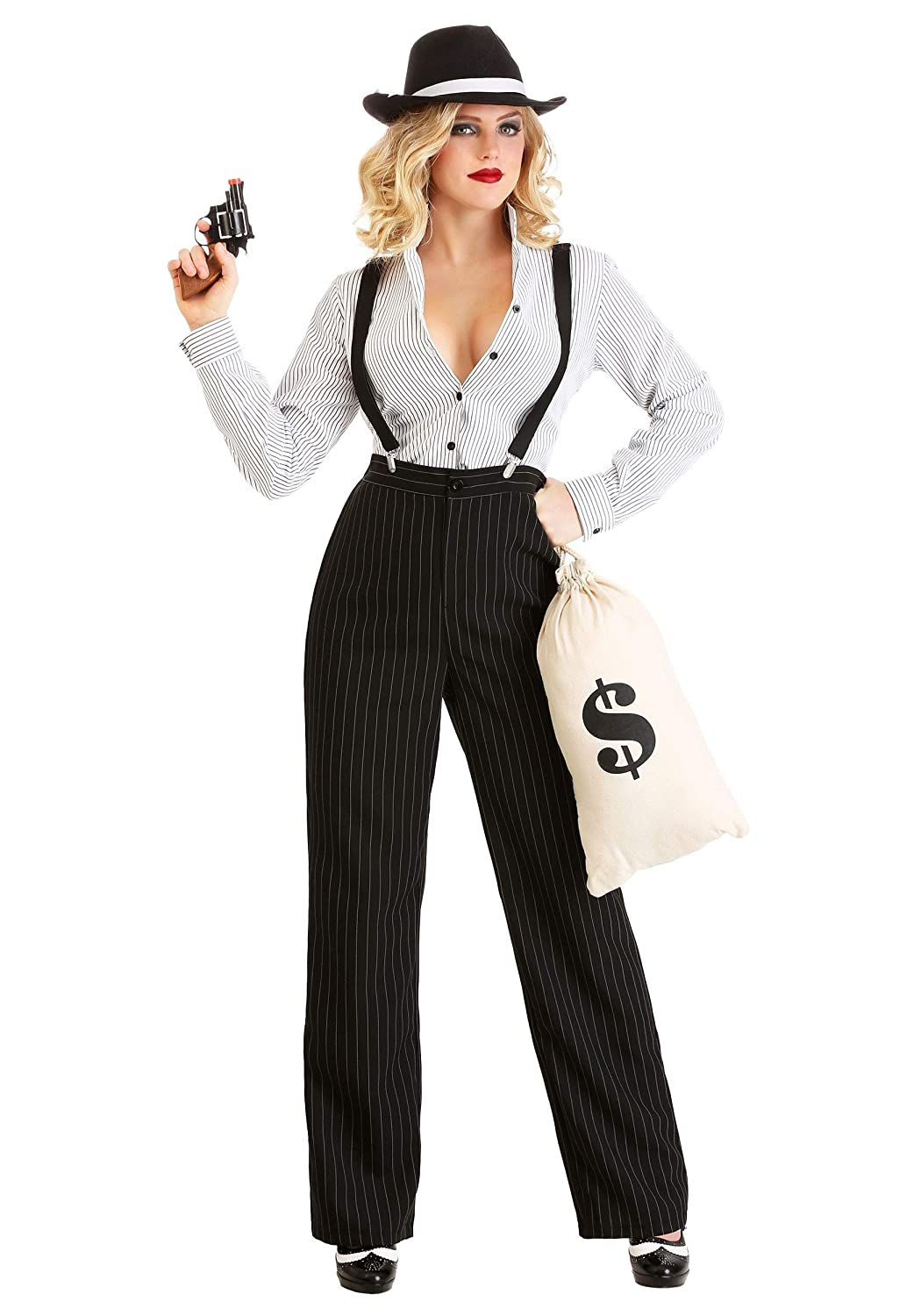 1920s Style Women's Pants, Trousers, Knickers, Tuxedo Gangster Lady Costume for Women $49.99 AT vintagedancer.com