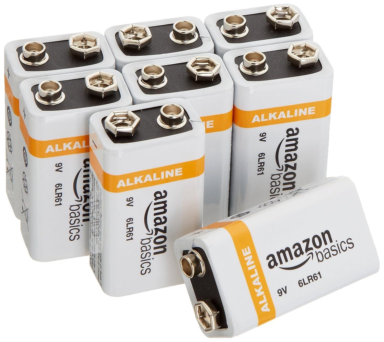 9 volt battery batteries amazon basics alkaline 8 pack new ebay. Black Bedroom Furniture Sets. Home Design Ideas