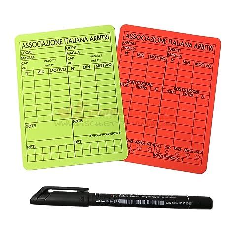 Tarjetas de árbitro reutilizables de 12 x 9 cm, para ...