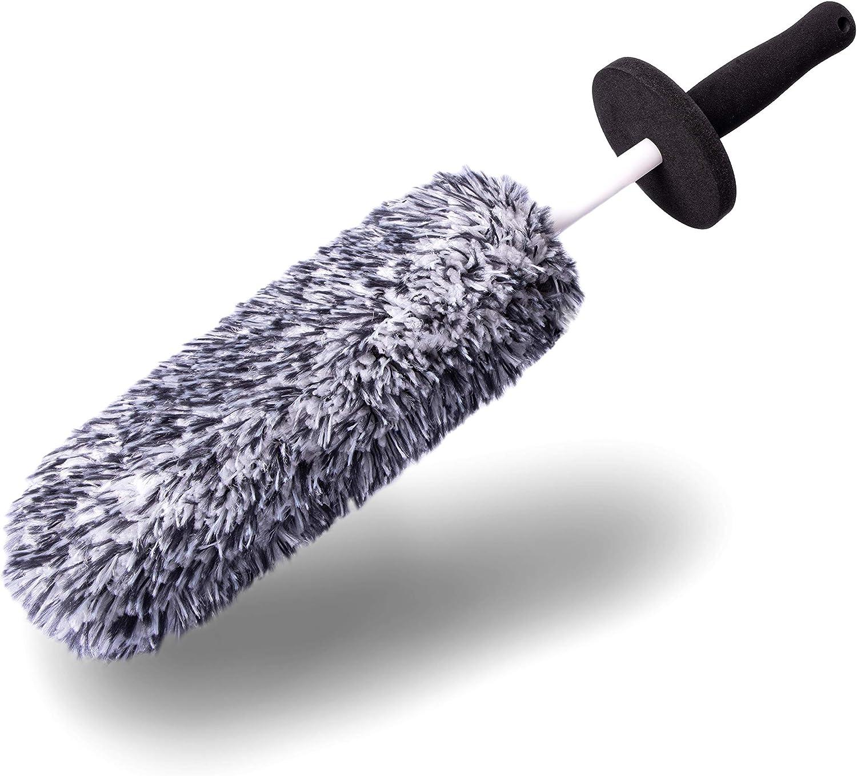 Aurum-Performance® Premium Felgenbürste Alufelgen – Soft Mikrofaser Felgen Bürste für eine besonders schonende Reinigung bis ins Felgentiefbett – Lange Profi Auto Felgenreinigungsbürste: Amazon.de: Auto -