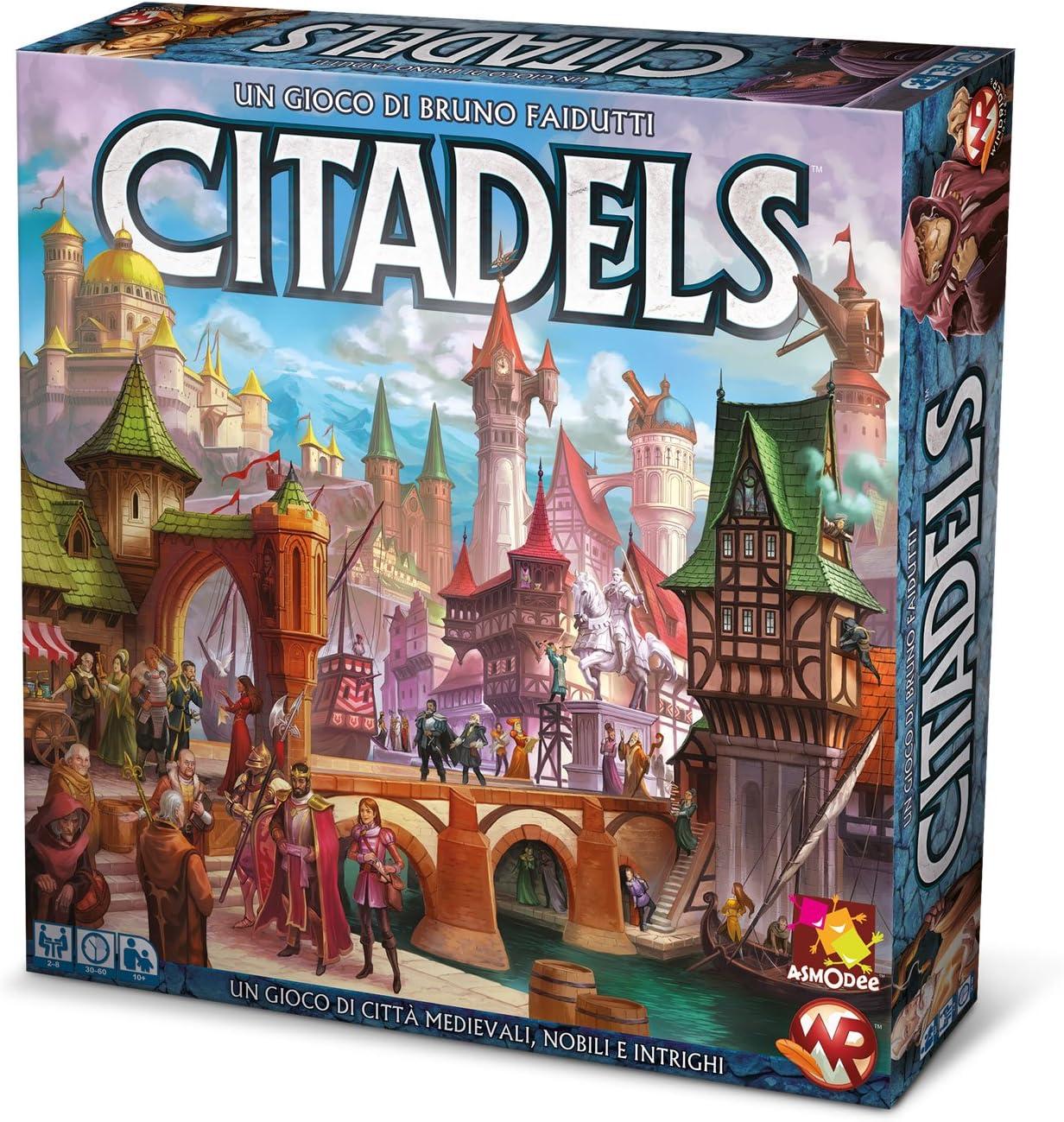 Asmodee Italia – Citadels Edición Italiana, 9800: Amazon.es: Juguetes y juegos
