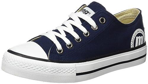 MTNG Lona Chica, Zapatillas de Deporte para Mujer, Azul (Canvas Azul), 39 EU