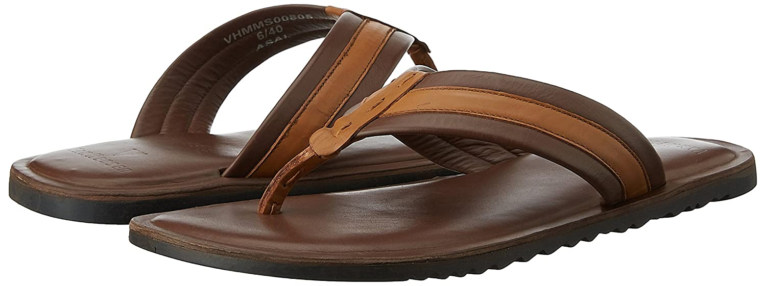 Van Heusen Men s Brown Leather Slippers - 7 UK India (41 EU)  Buy Online at  Low Prices in India - Amazon.in c327bd047