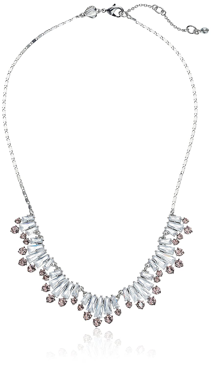 Amazon.com: Carolee Blushing Bride Collection Women's 16 inches Frontal  Necklace, Silver/Lt Pink: Jewelry