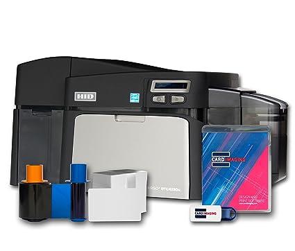 fargo dtc4250e dual side id card printer supplies package - Id Card Printer