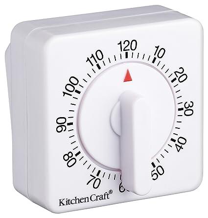 Kitchen Craft Timer meccanico da cucina, da 120 minuti: Amazon.it ...