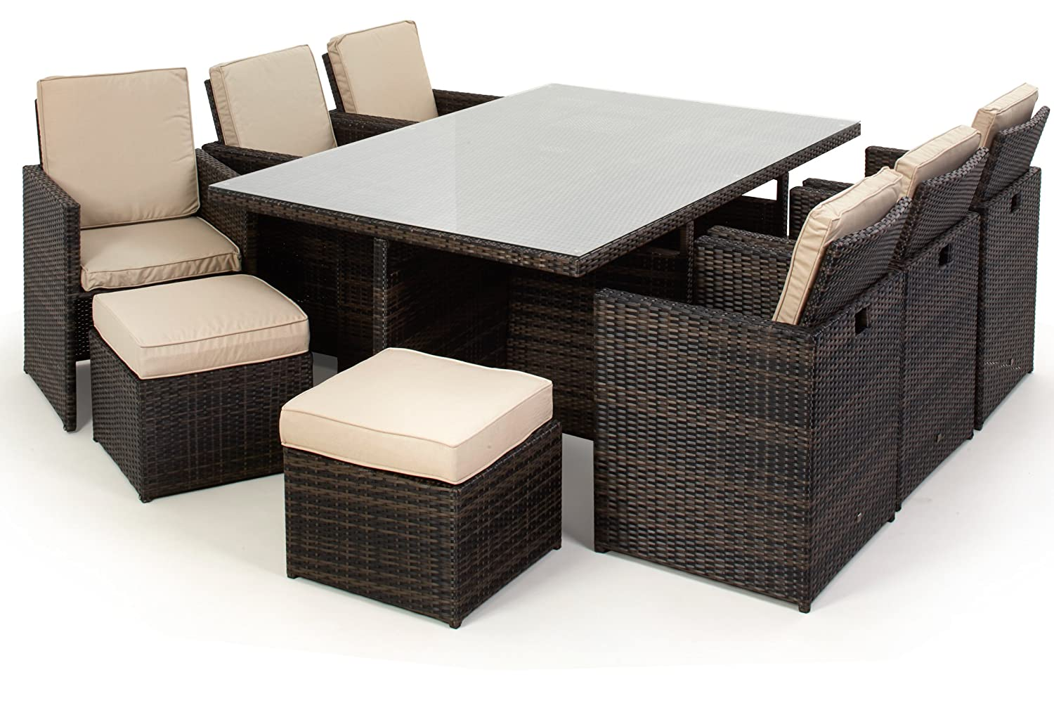 san diego dallas baby rattan garden furniture brown 7 piece cube set rh amazon co uk