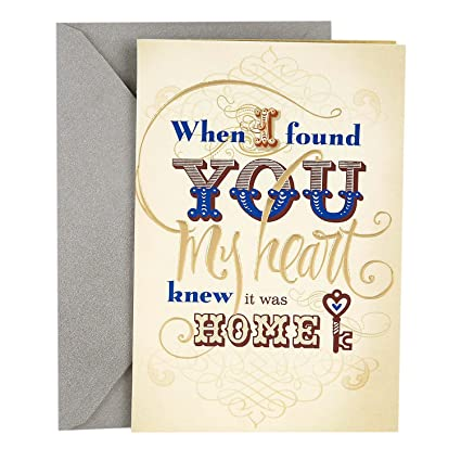 Amazon hallmark romantic fathers day greeting card for hallmark romantic fathers day greeting card for husband the life weve m4hsunfo