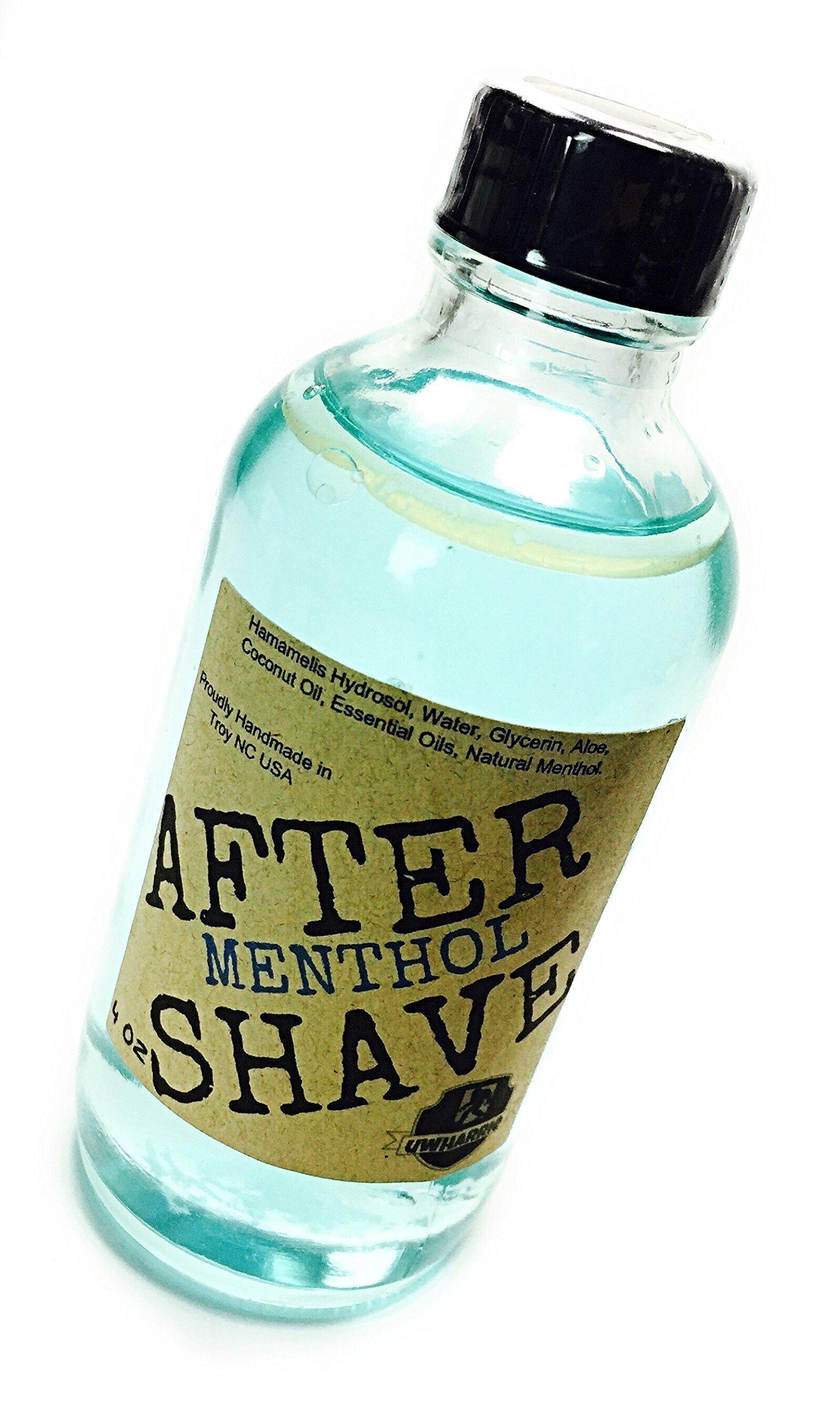Uwharrie Soap Co. Retro Menthol Essential Oil Aftershave Splash, Prohibition Era Barber Shop Natural AFTERSHAVE 4oz.