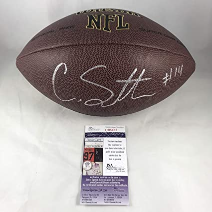 ae7faac4a42 Courtland Sutton Autographed Signed NFL Football Denver Broncos Authentic  Memorabilia - JSA Authentic