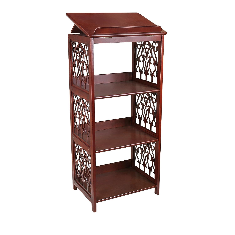 Amazon.com: Design Toscano St. Thomas Aquinas Gothic Decor Wooden Bookstand  Library Display Stand, 43 Inch, Hardwood, Walnut Finish: Kitchen U0026 Dining