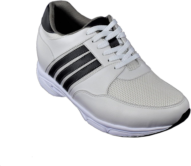 Chaussures de Sport Homme 8 cm Chaussures Cuir Homme Chaussures Grandissantes Chaussures Cuir Veritable Zerimar Chaussures Rehaussantes Homme