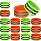 16 Pieces Reflective Bands Reflector Bands for Wrist, Arm, Ankle, Leg, High Visibility Reflective Gear Safety Reflector Tape