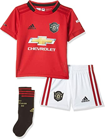 Amazon Com Adidas Manchester United Fc Official 2019 20 Home Mini Kit Youth Red Clothing