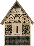 Woodside Wooden Insect & Bee House Natural Wood Bug Hotel Shelter Garden Nest Box