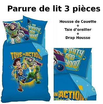 Toy Story Parure De Lit 3pcs Housse De Couette 140x200