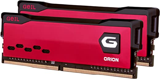 GeIL Orion DDR4 RAM, 32GB (16GBx2) 3200MHz 1.35V XMP2.0, Intel/AMD Compatible, Long DIMM High Speed Desktop Memory, Hardcore Immersive Gaming/Multimedia Content Creation/Quality Live Streaming