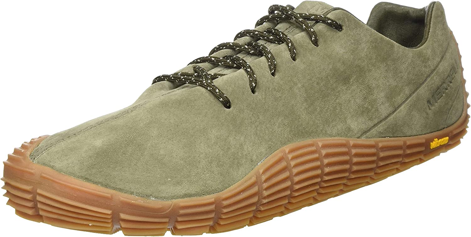 Blue Merrell Mens Move Glove Suede Trail Running Shoes Trainers Sneakers