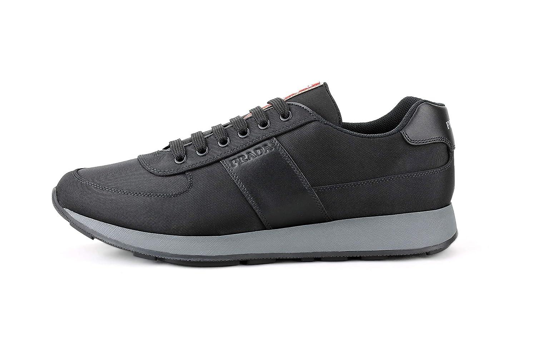 ee0ea0e465ca94 Amazon.com | Prada Men's Nylon Tech Trainer Sneaker, Nero (Black) 4E3341 |  Fashion Sneakers