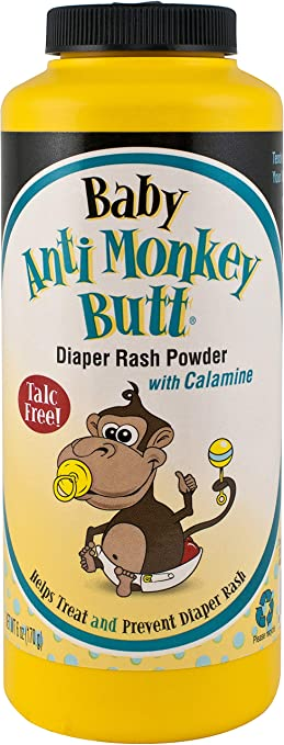Baby Anti-Monkey Butt | Diaper Rash Powder with Calamine