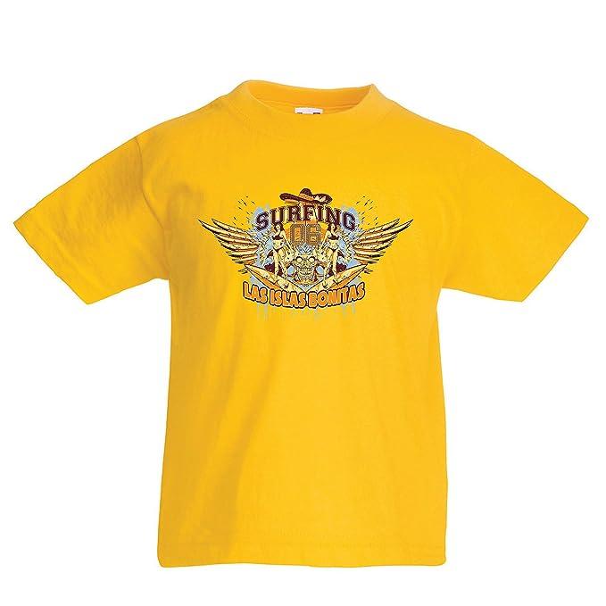 lepni.me Camiseta para Niño/Niña Ropa de Surf - Las Islas Bonitas,