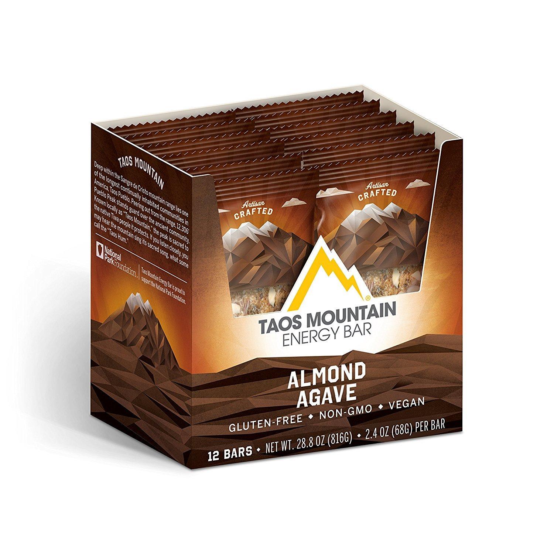 Taos Mountain Energy Bar - Almond Agave (2.2 Ounce, 12 Count)