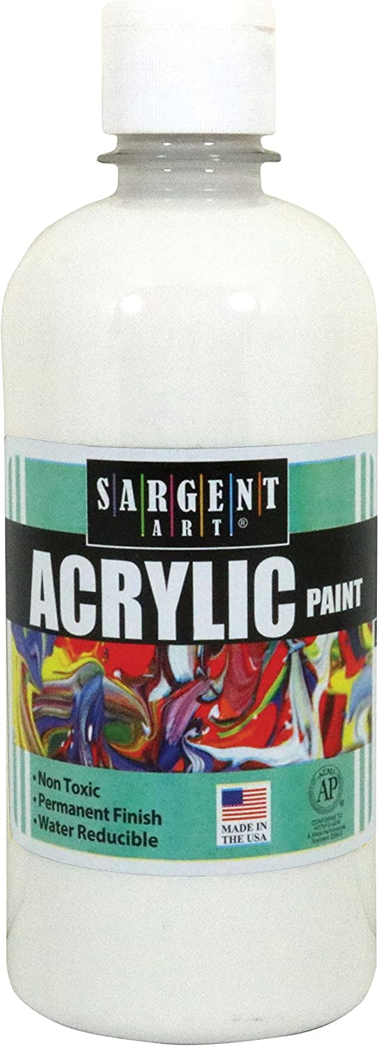 Sargent Art 24-2496 16-Ounce Acrylic Paint, White