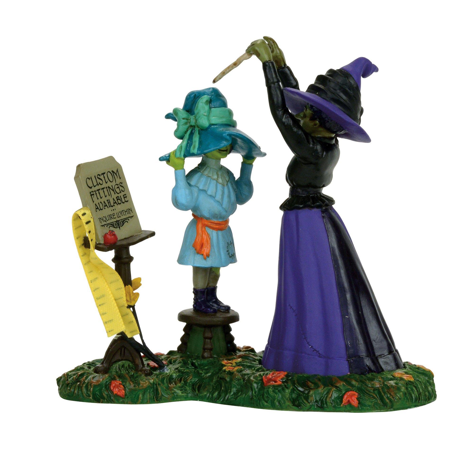 Department 56 Snow Village Halloween Hattie's Hats Custom Fitted Accessory Figurine