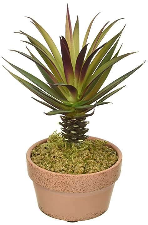 Ku0026K INTERIORS 12352D Red Mini Palm Tree Everyday Floral Potted, ...