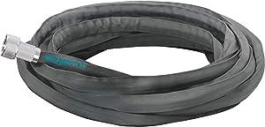 Aqua Joe AJFJH25-PRO Fiberjacket Garden Hose w/Metal Fittings and Twist Nozzle, 600 Max PSI Rating