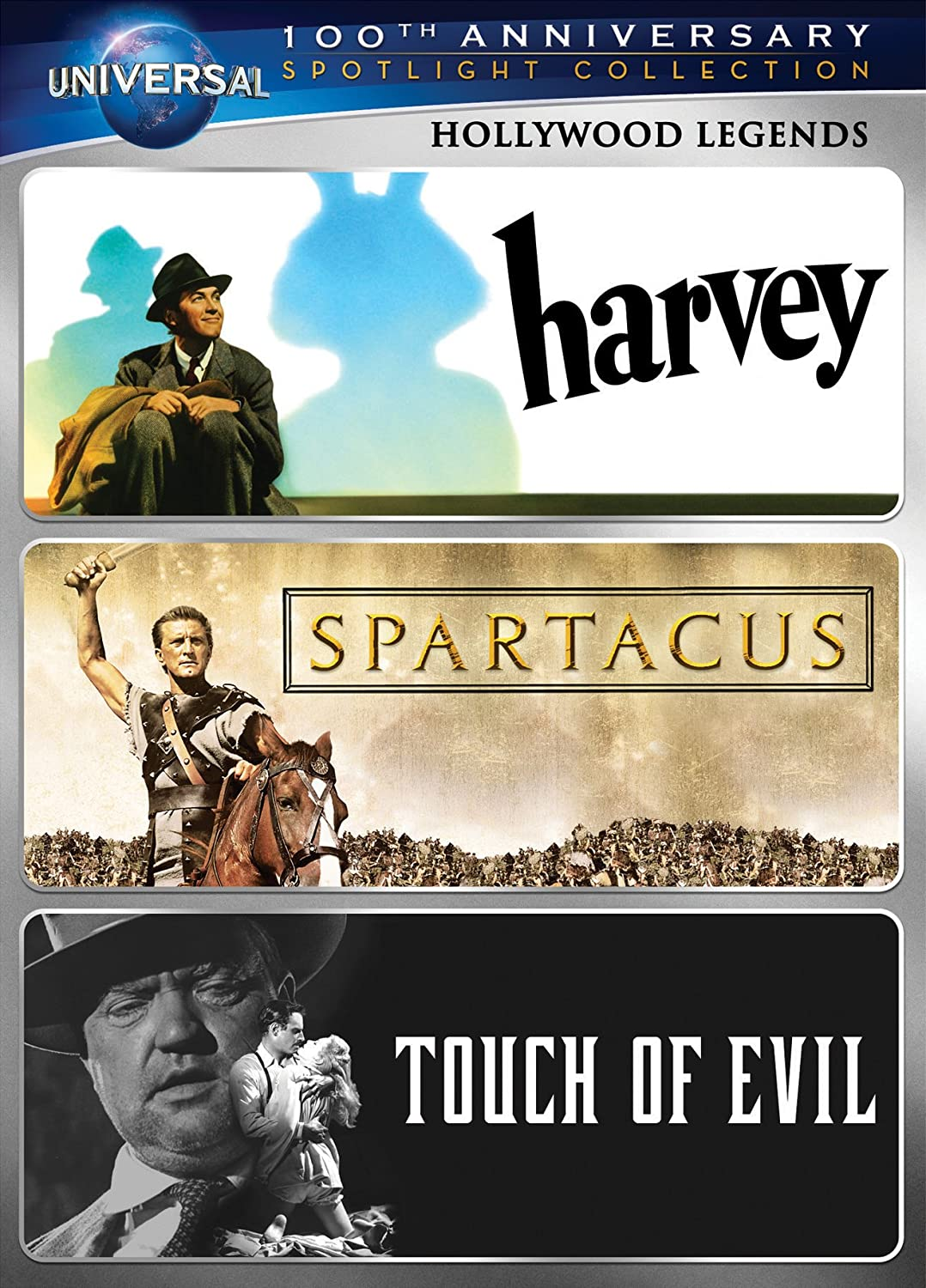 Amazon.com: Hollywood Legends Spotlight Collection [Harvey, Spartacus,  Touch of Evil] (Universal's 100th Anniversary): James Stewart, Kirk  Douglas, ...