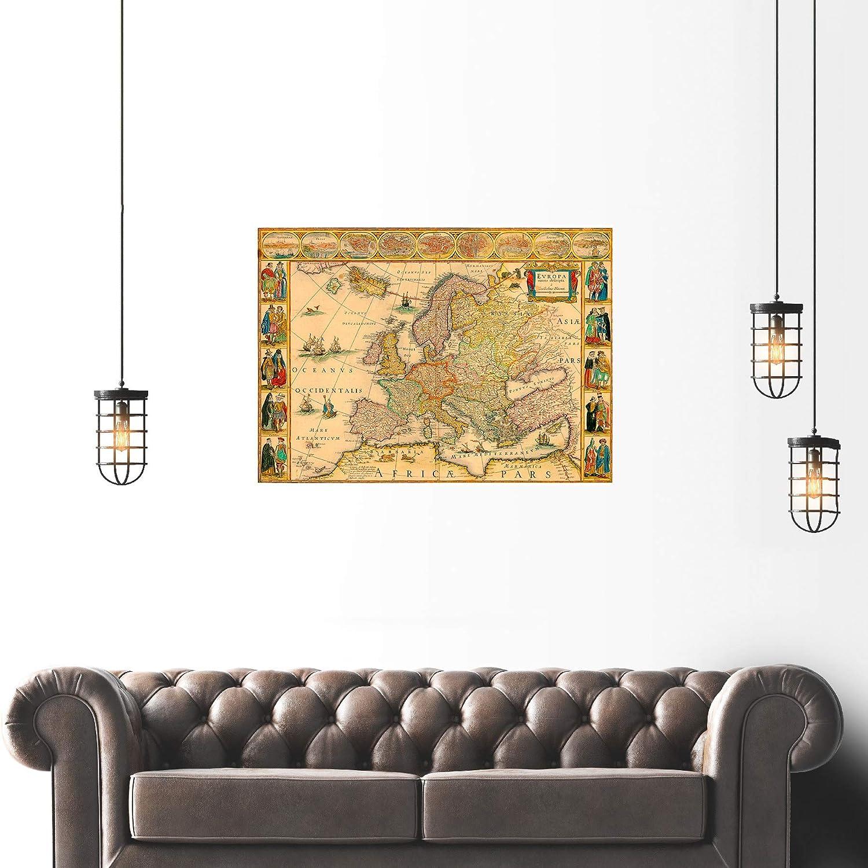 MAP ANTIQUE BLAEU 1664 EUROPE OLD HISTORIC LARGE REPLICA POSTER PRINT PAM0564