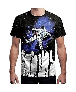 YAO STARS Mens Epic Dragon Funny Skull 3D Print Casual T-Shirt