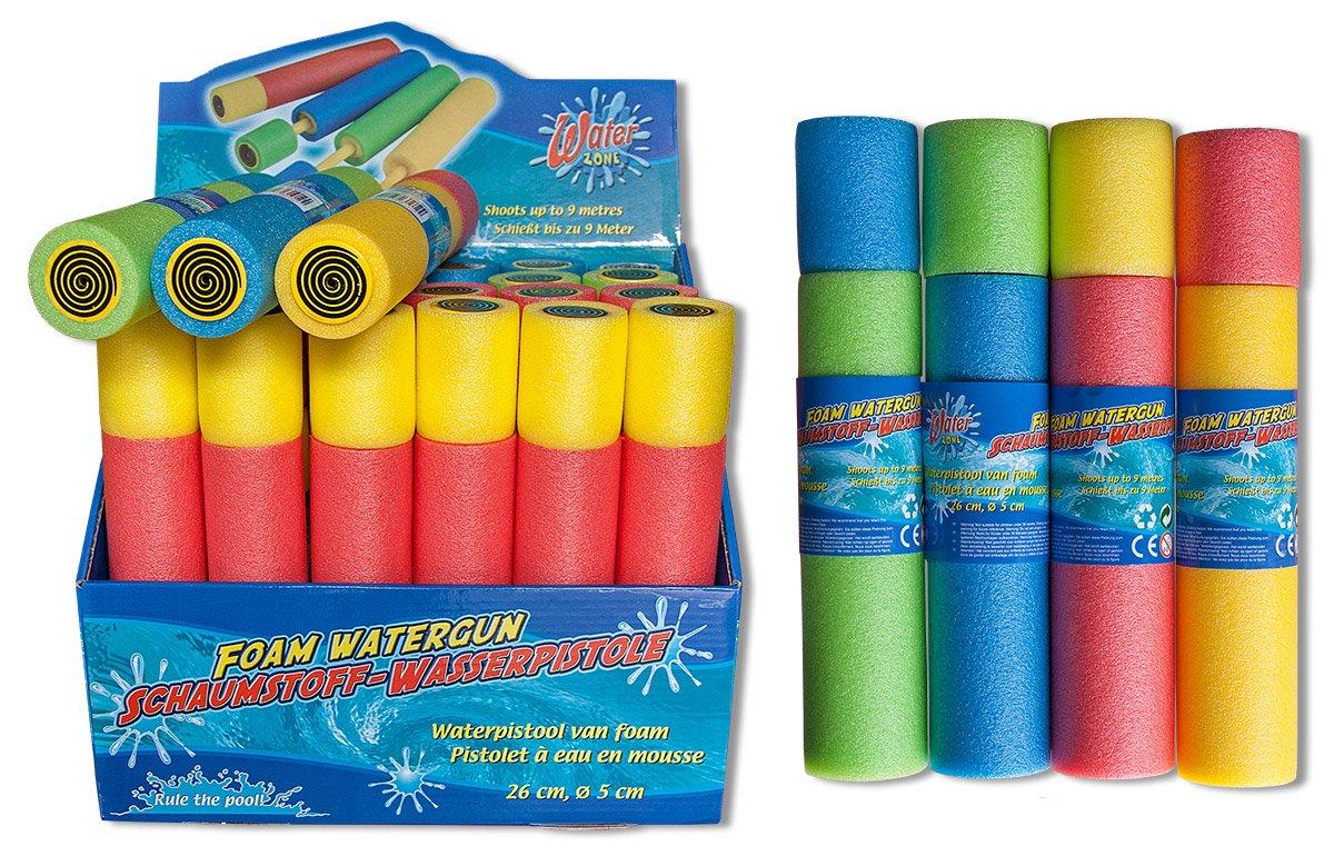 12 x Poolkanone Wasserspritze Wasserpistole Pool Kanone Länge: 26cm Durchmesser: 5cm Diverse