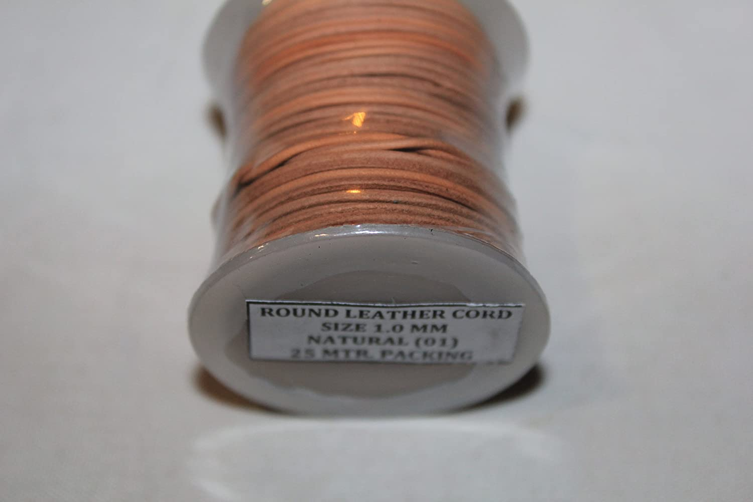 MIJ-1MM-403 Genuine Leather Cord Stressed Brown 1 mm Supple and Smooth -25 Meter // Spool Many Colors Soft