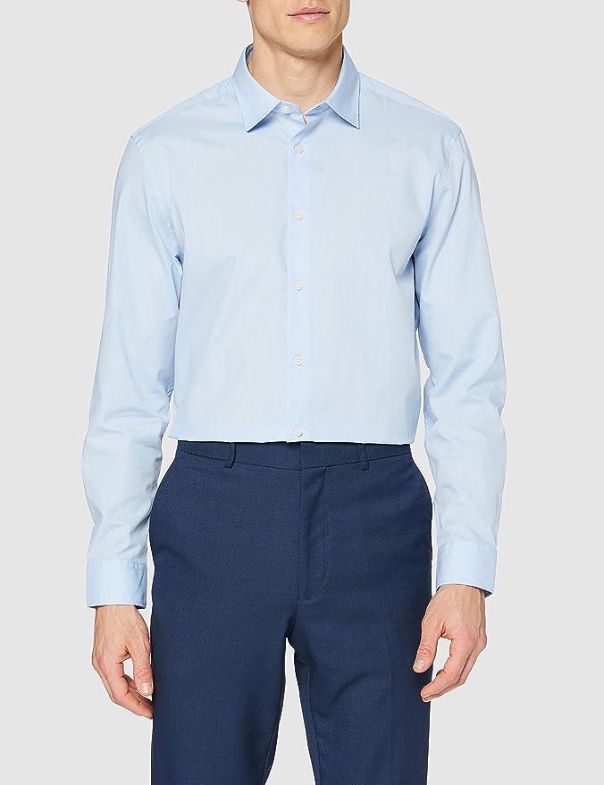 Marca Amazon - find. Camisa de Cuadros Regular Fit Hombre ...