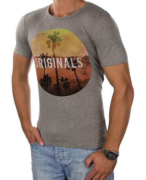 02f29b5096add3 JACK   JONES Herren T-Shirt jorROAD TRIP jorCREEK Tee Rundhals Fotoprint  Slim Fit (