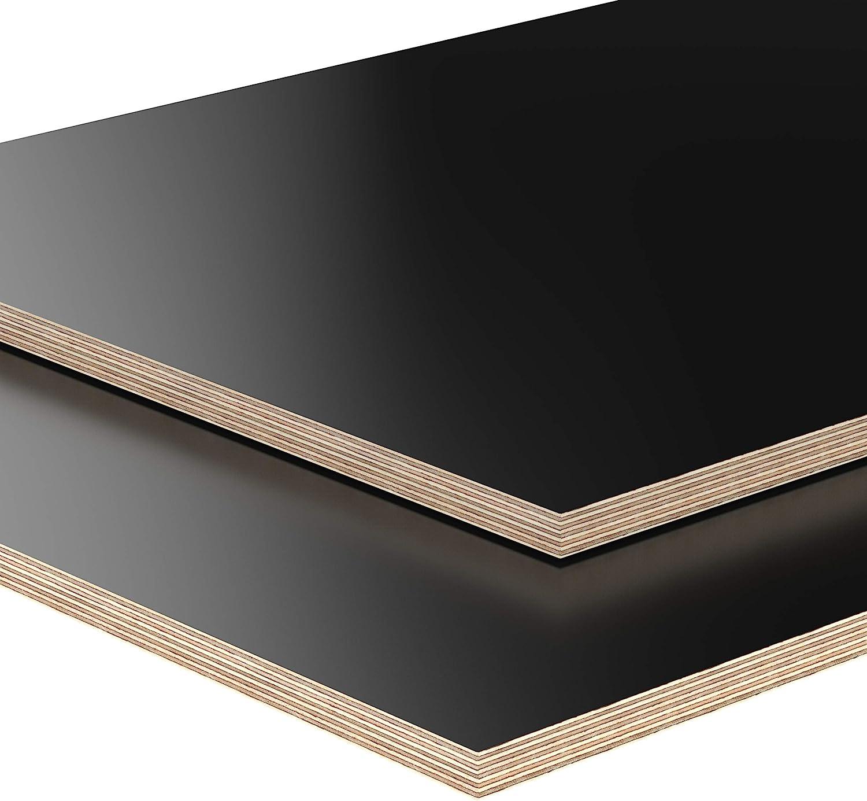 18mm Panneau de contreplaqu/é noir d/ébit/é /à 200cm en longueur panneaux multiplex rev/êtu en m/élamine choix 60x100 cm