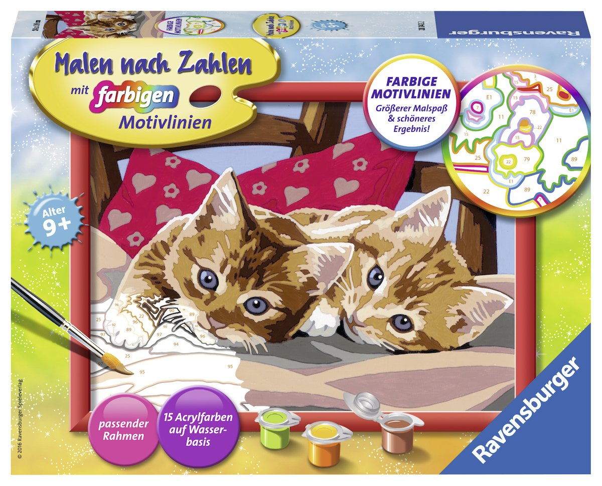 Ravensburger 283422 'Two Cuddly Kittens Painting By Numbers Set