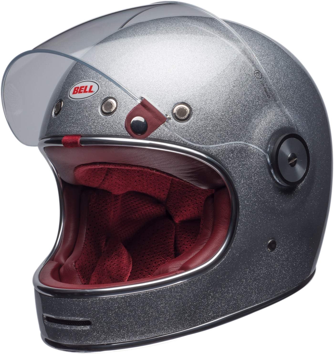 Bell Helmet Bullitt Dlx Flake Silver M Auto