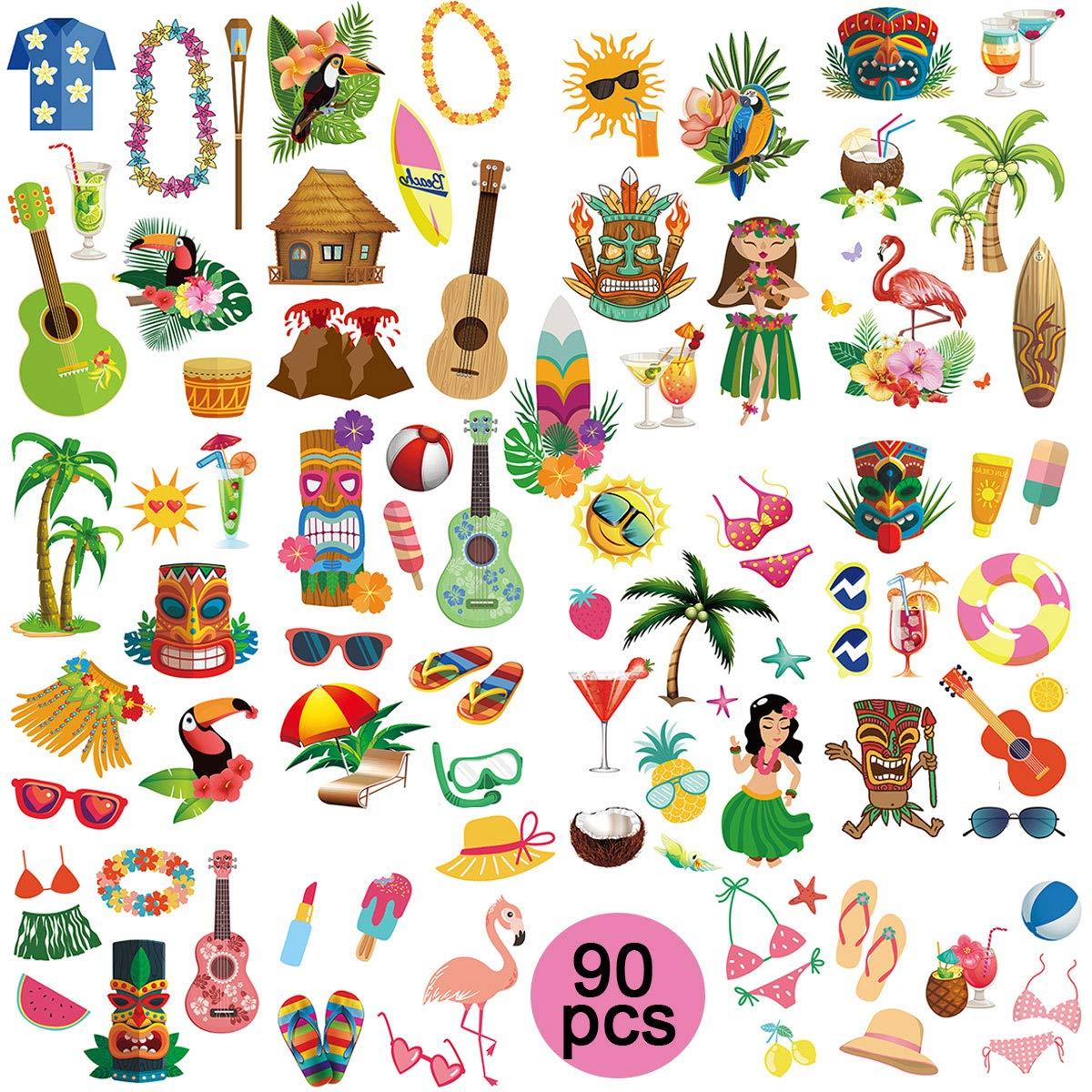 ghdonat.com Novelty & Gag Toys Toys & Games 90Pcs Luau Hawaiian ...