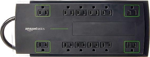 AmazonBasics 12-Outlet Power Strip Surge Protector | 4