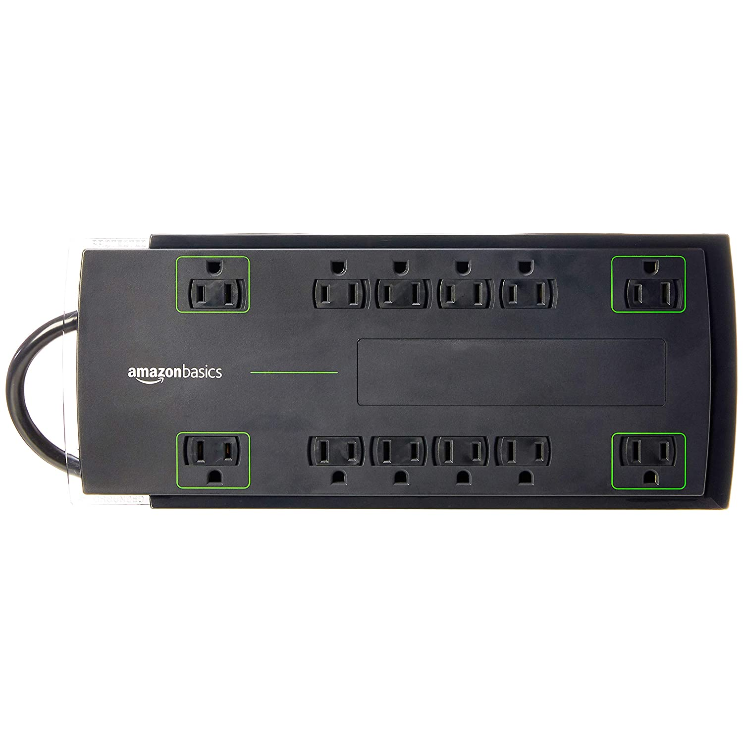 AmazonBasics 12-Outlet Surge Protector | 4,320 Joule, 10-Foot Cord
