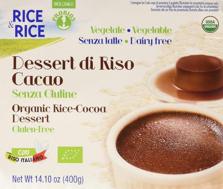 Rice & Rice Postre Crema de Arroz y Cacao - 6 Paquetes de 4 ...