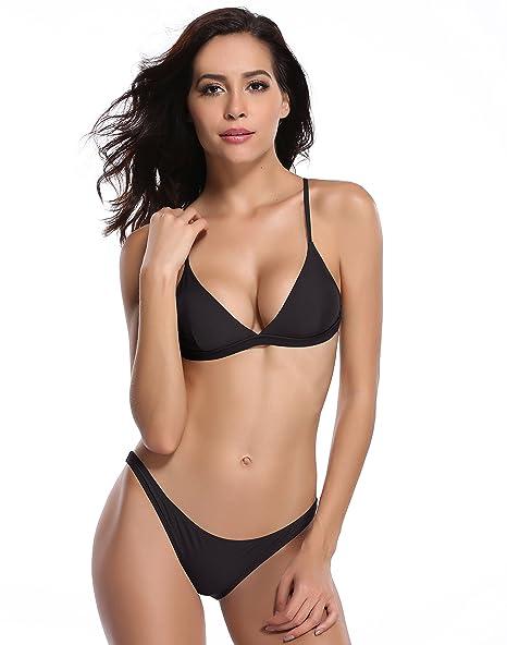 SHEKINI Women's Triangle Bikini Bathing Suits