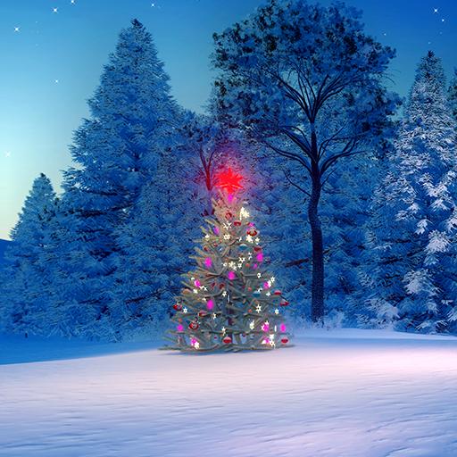 Xmas Tree Live Wallpapers (Winter Lights Wallpaper Christmas)