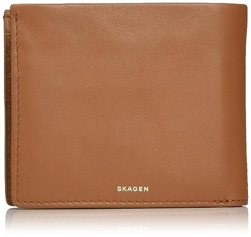 Skagen Denmark Skagen Passcase, Portefeuilles Homme, (Cognac), 2 x 9.3 x 11 cm (L x H x P)